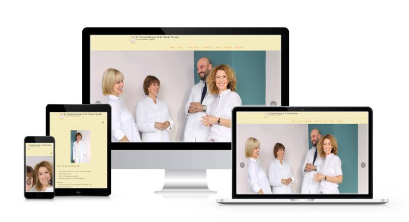 Bild der Webseite Zahnarzt Aliceplatz