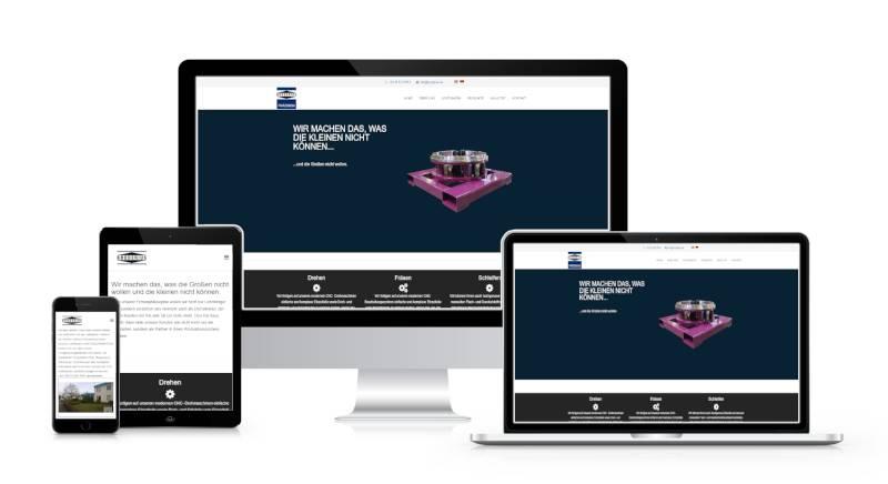 Bild zeigt Webseite der Broderius GmbH