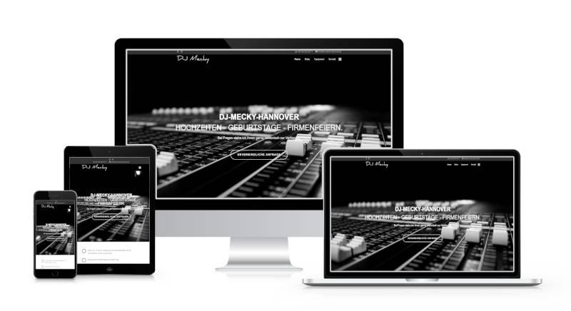 Bild zeigt Webseite von DJ Mecky Hannover