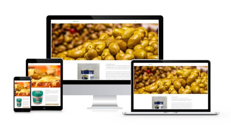 Bild zeigt Webseite vom Spanische Produkte 24